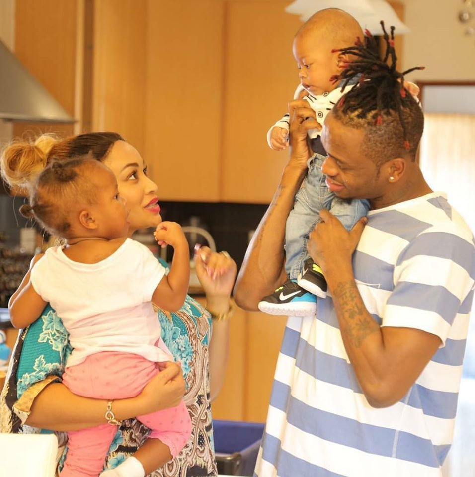 Zari and Diamond with their kids Lattifa and Nillan